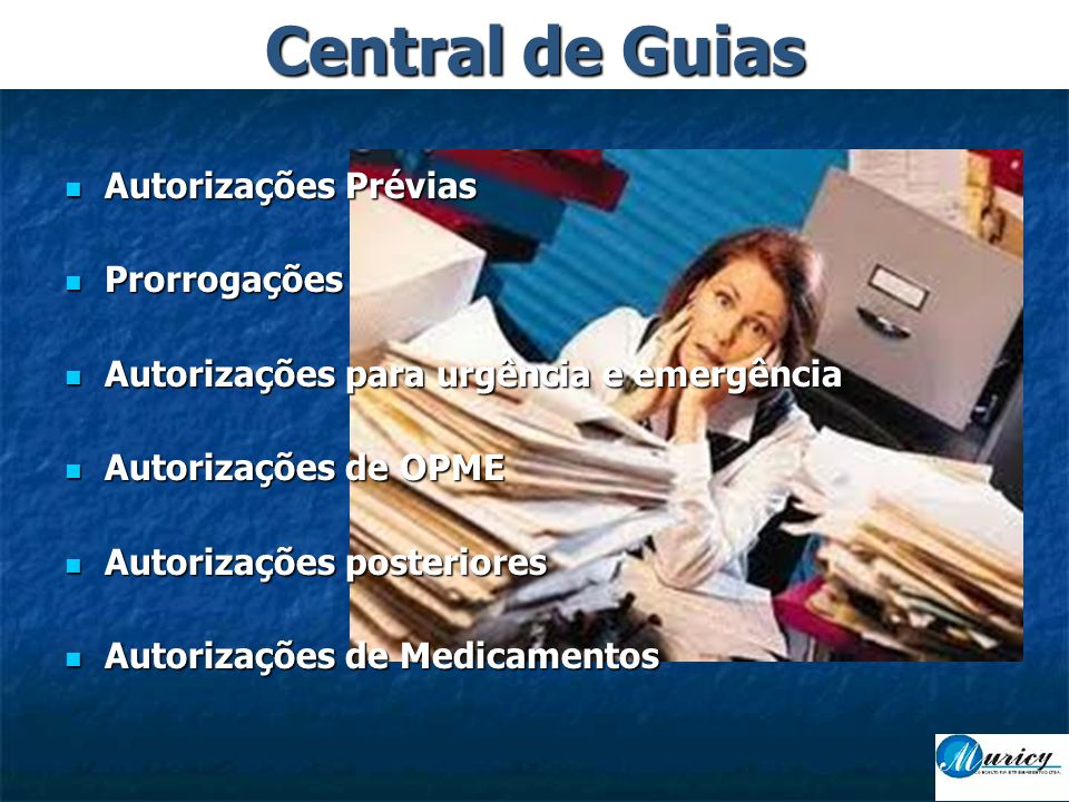 Central de Guias Autorizações Prévias Prorrogações