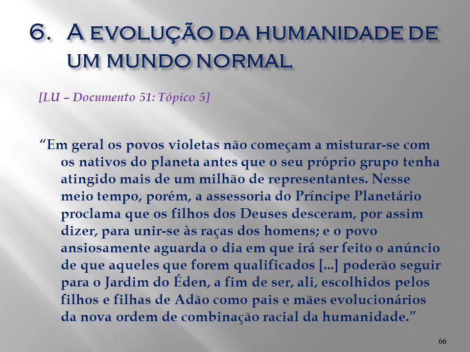 A evolução da humanidade de um mundo normal
