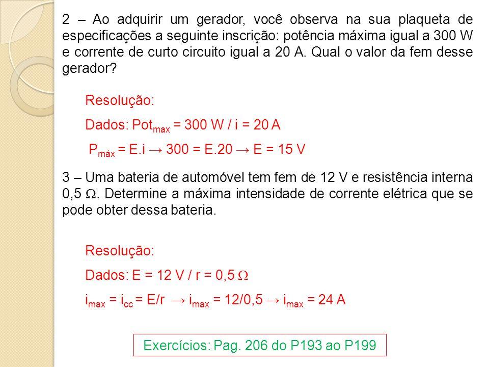 Exercícios: Pag. 206 do P193 ao P199