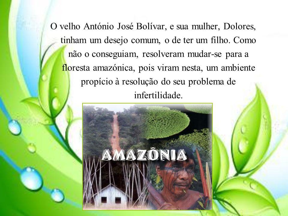 O velho António José Bolívar, e sua mulher, Dolores, tinham um desejo comum, o de ter um filho.