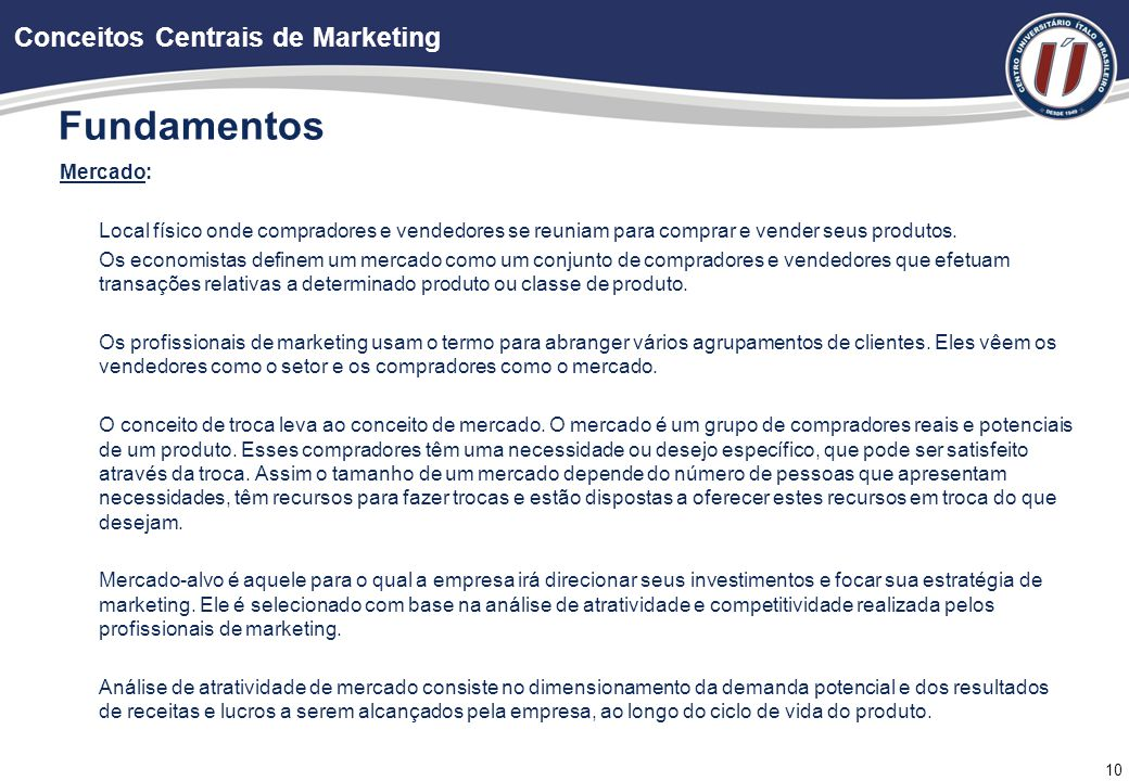 Fundamentos Conceitos Centrais de Marketing