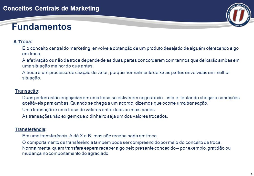 Fundamentos Conceitos Centrais de Marketing Estados da Demanda: