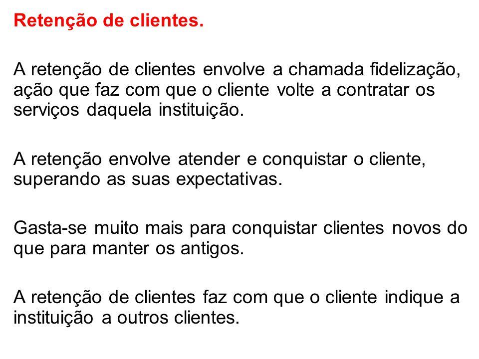 Retenção de clientes.