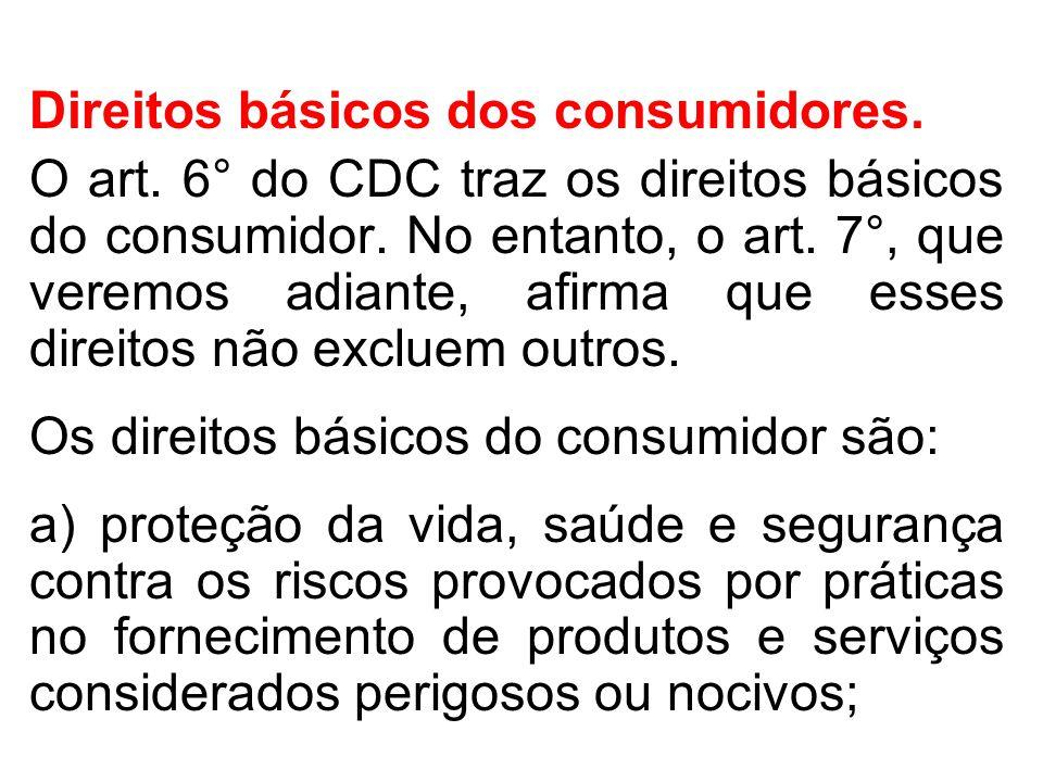 Direitos básicos dos consumidores.