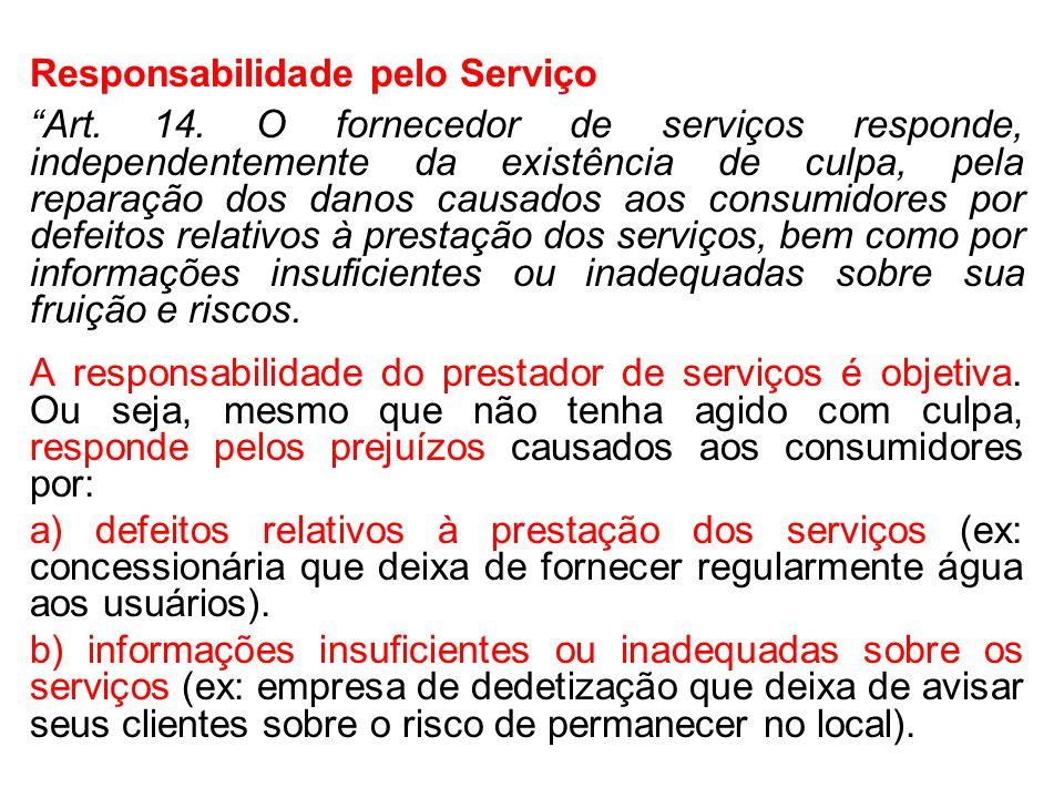 Responsabilidade pelo Serviço