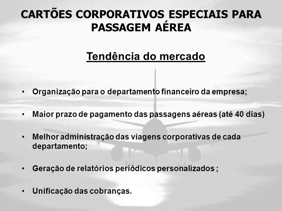 CARTÕES CORPORATIVOS ESPECIAIS PARA PASSAGEM AÉREA
