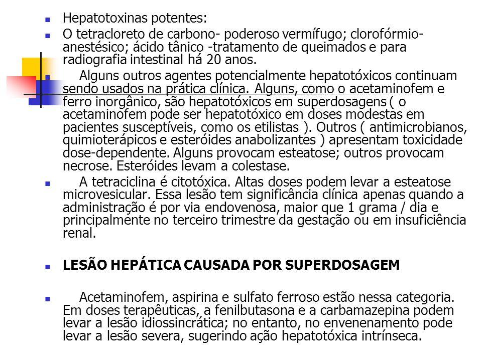 Hepatotoxinas potentes: