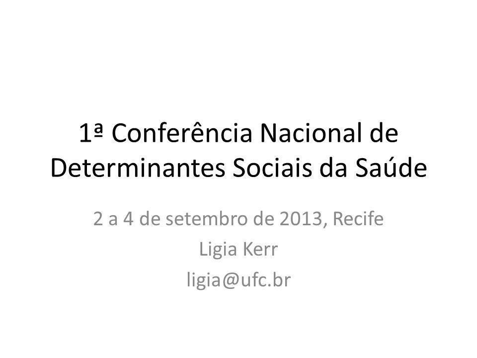 1ª Conferência Nacional de Determinantes Sociais da Saúde