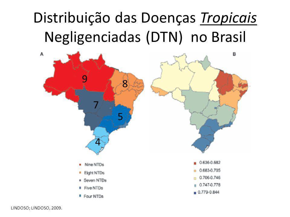 Distribuição das Doenças Tropicais Negligenciadas (DTN) no Brasil