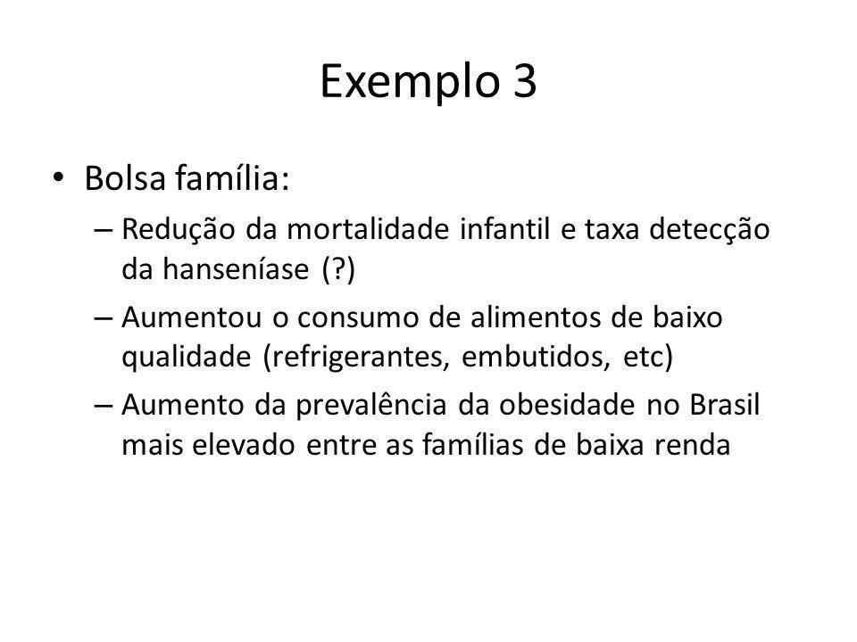Exemplo 3 Bolsa família: