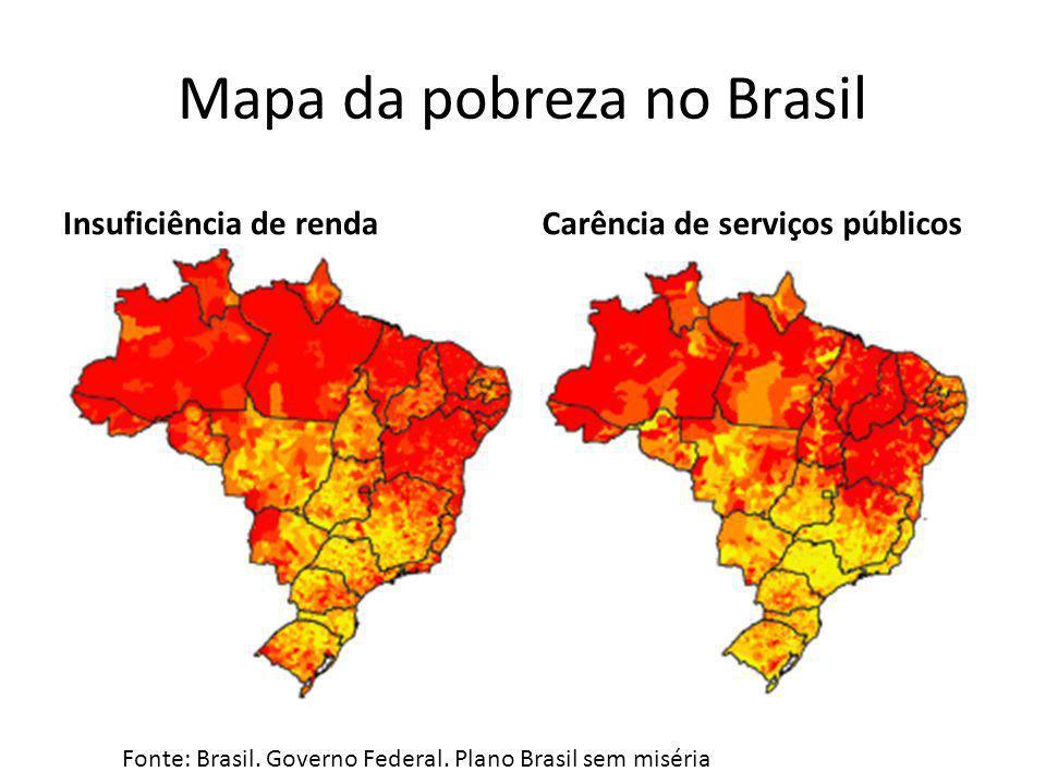 Mapa da pobreza no Brasil