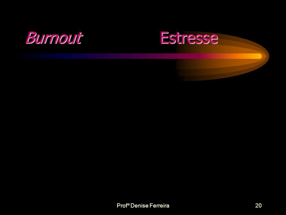 Burnout Estresse Profª Denise Ferreira