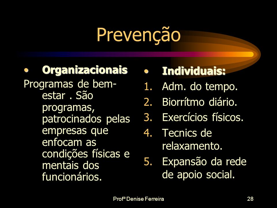 Prevenção Organizacionais
