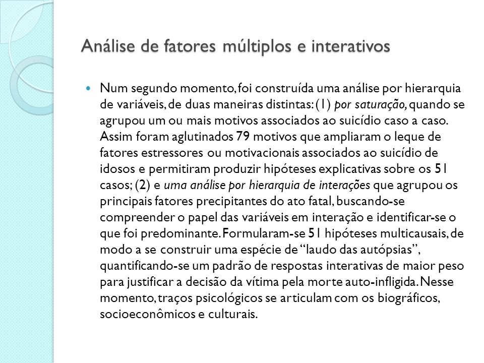 Análise de fatores múltiplos e interativos
