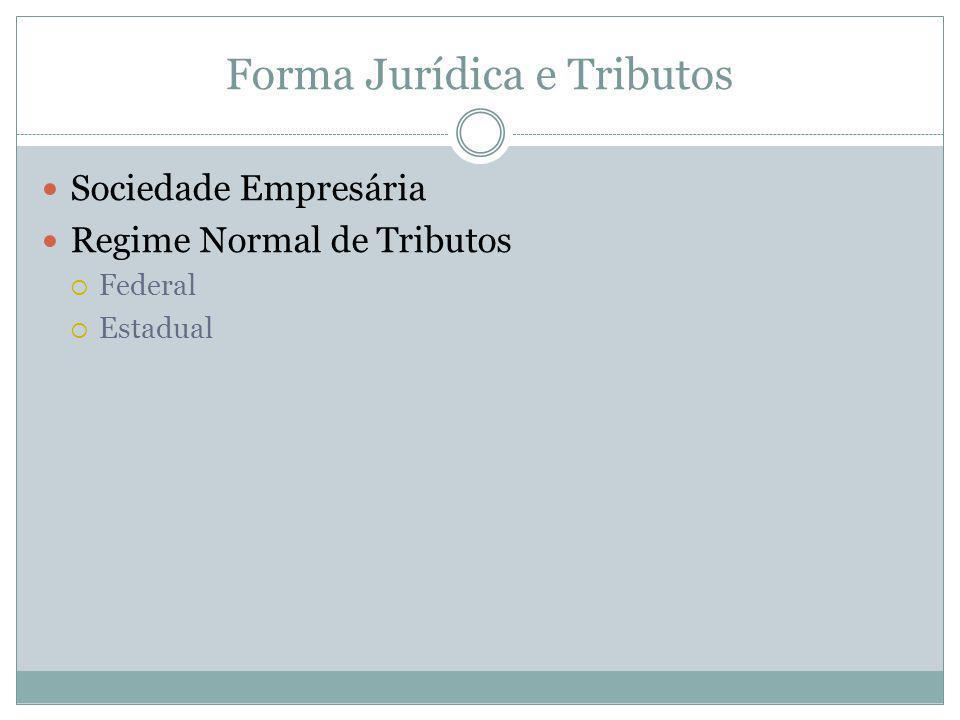 Forma Jurídica e Tributos