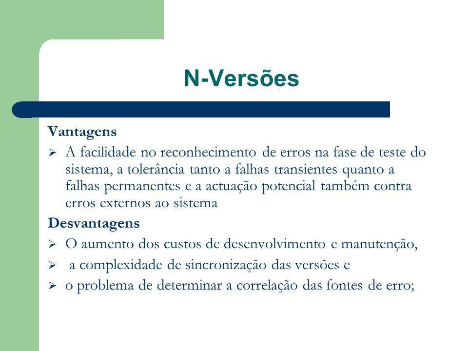 N-Versões Vantagens.