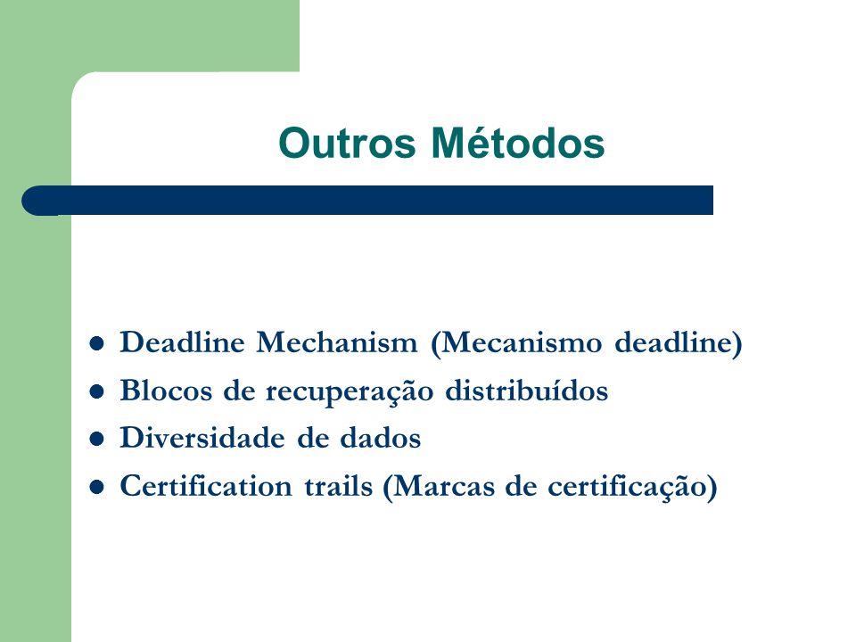 Outros Métodos Deadline Mechanism (Mecanismo deadline)