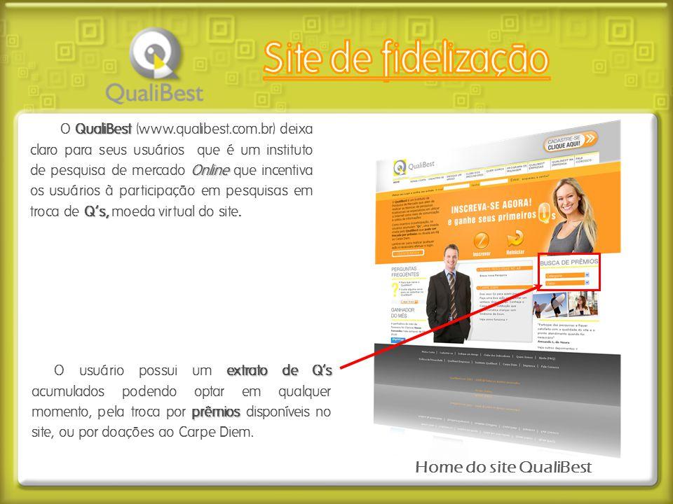 Site de fidelização Home do site QualiBest