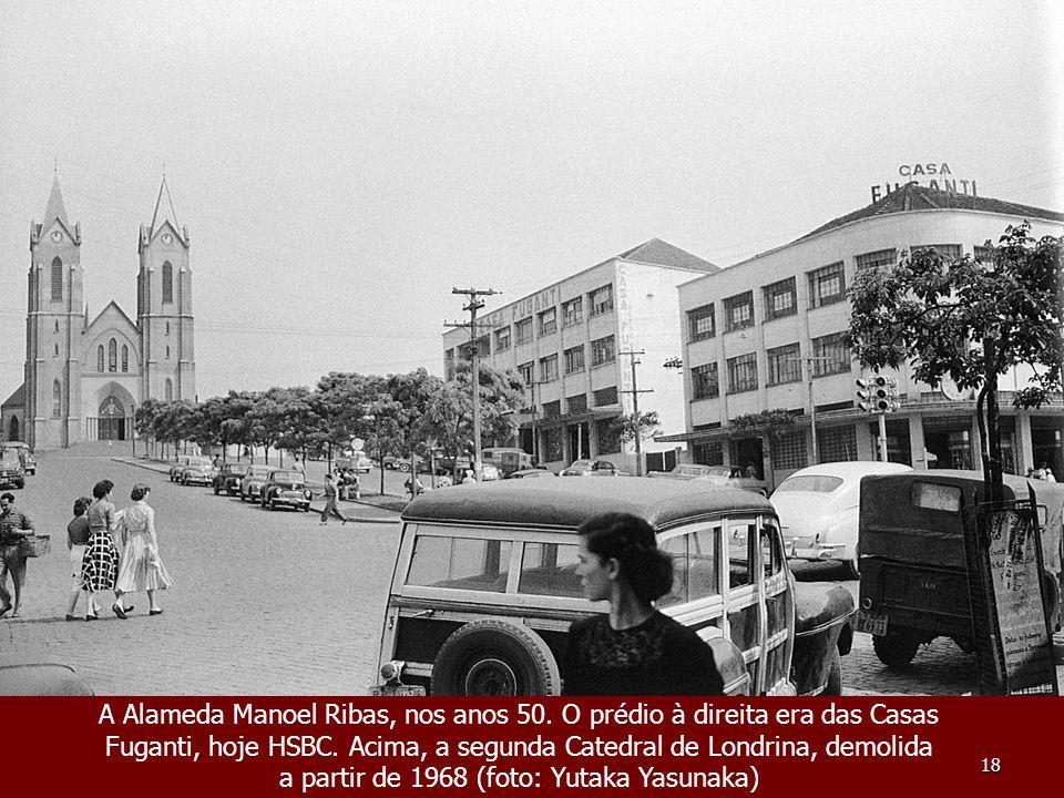 A Alameda Manoel Ribas, nos anos 50