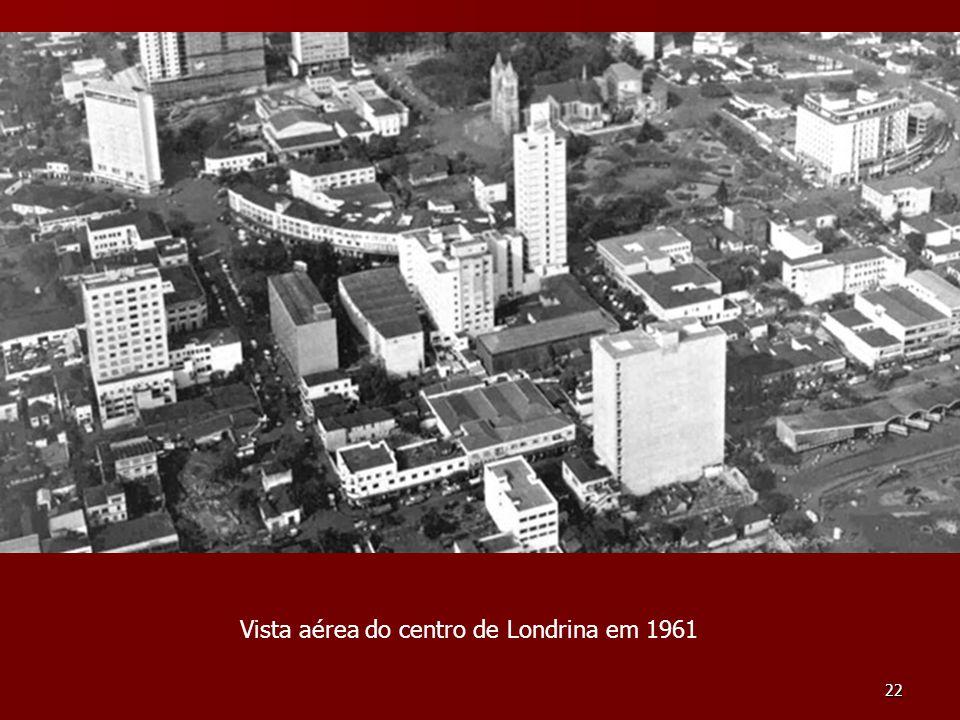 Vista aérea do centro de Londrina em 1961