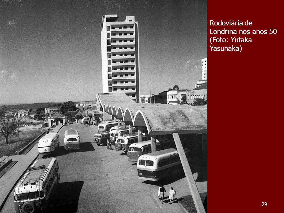 Rodoviária de Londrina nos anos 50 (Foto: Yutaka Yasunaka)