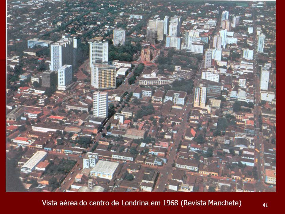 Vista aérea do centro de Londrina em 1968 (Revista Manchete)