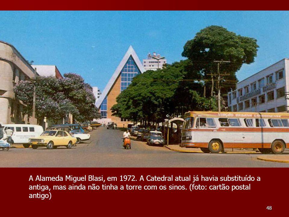 A Alameda Miguel Blasi, em 1972