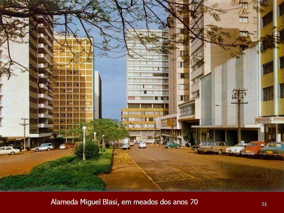 Alameda Miguel Blasi, em meados dos anos 70