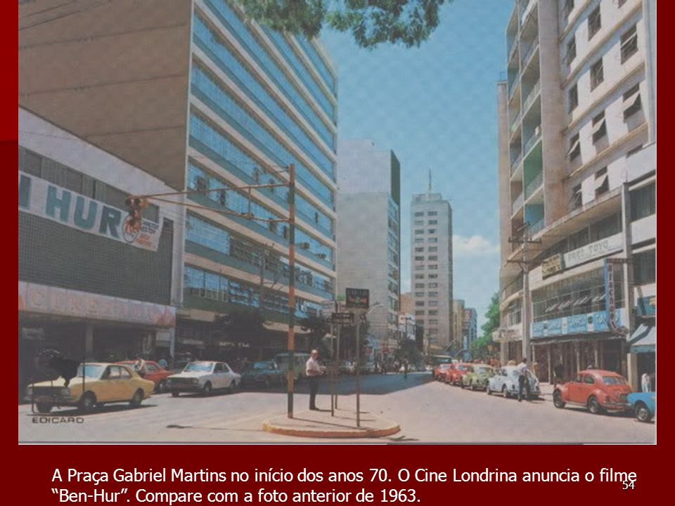 A Praça Gabriel Martins no início dos anos 70