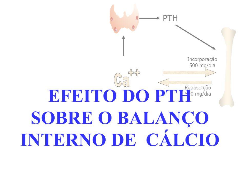 EFEITO DO PTH SOBRE O BALANÇO INTERNO DE CÁLCIO