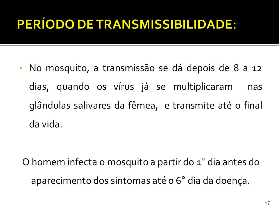 PERÍODO DE TRANSMISSIBILIDADE:
