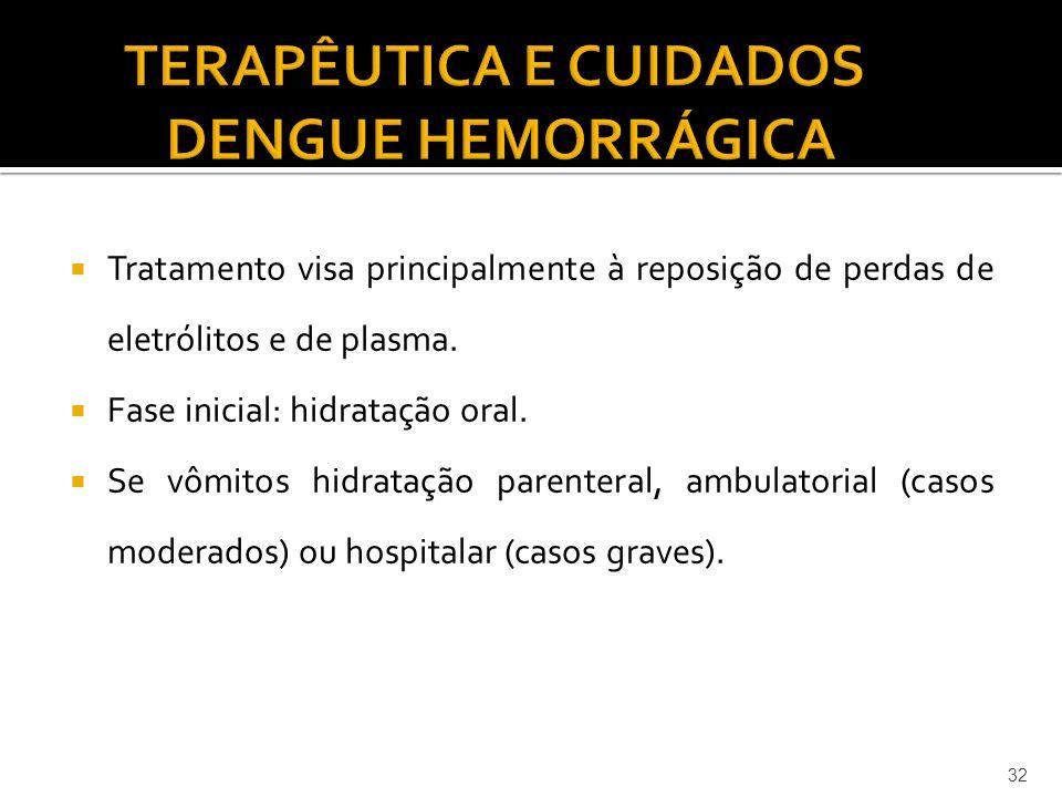 TERAPÊUTICA E CUIDADOS DENGUE HEMORRÁGICA
