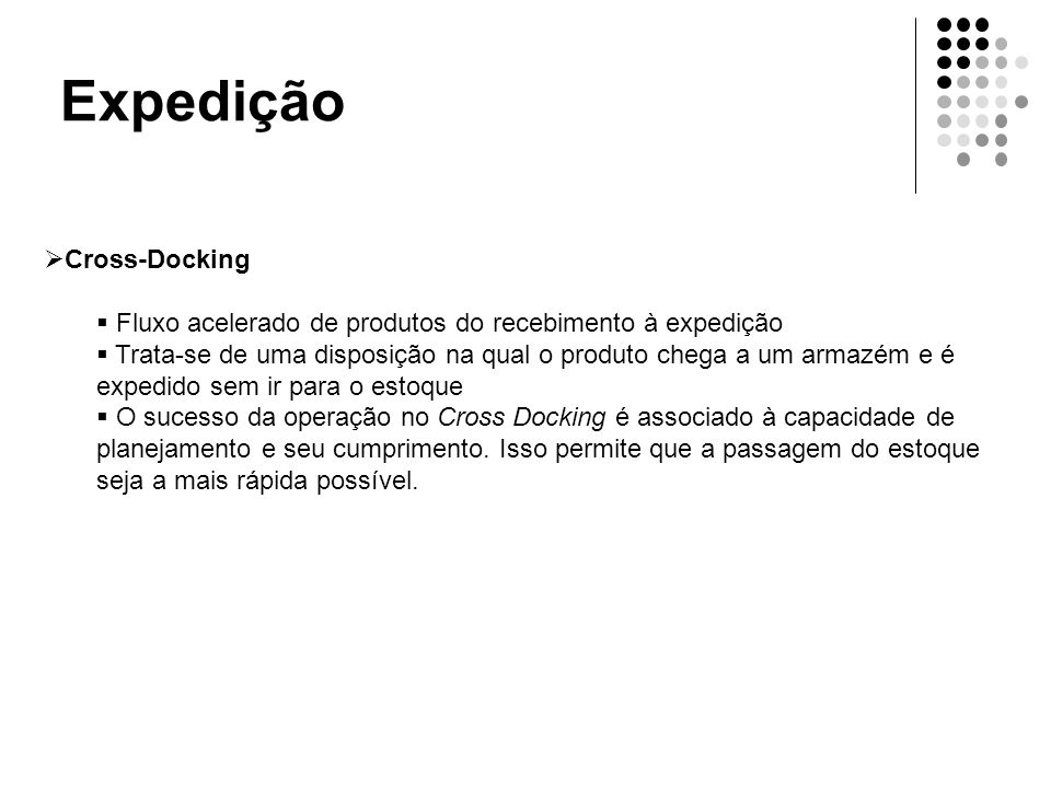 Expedição Cross-Docking