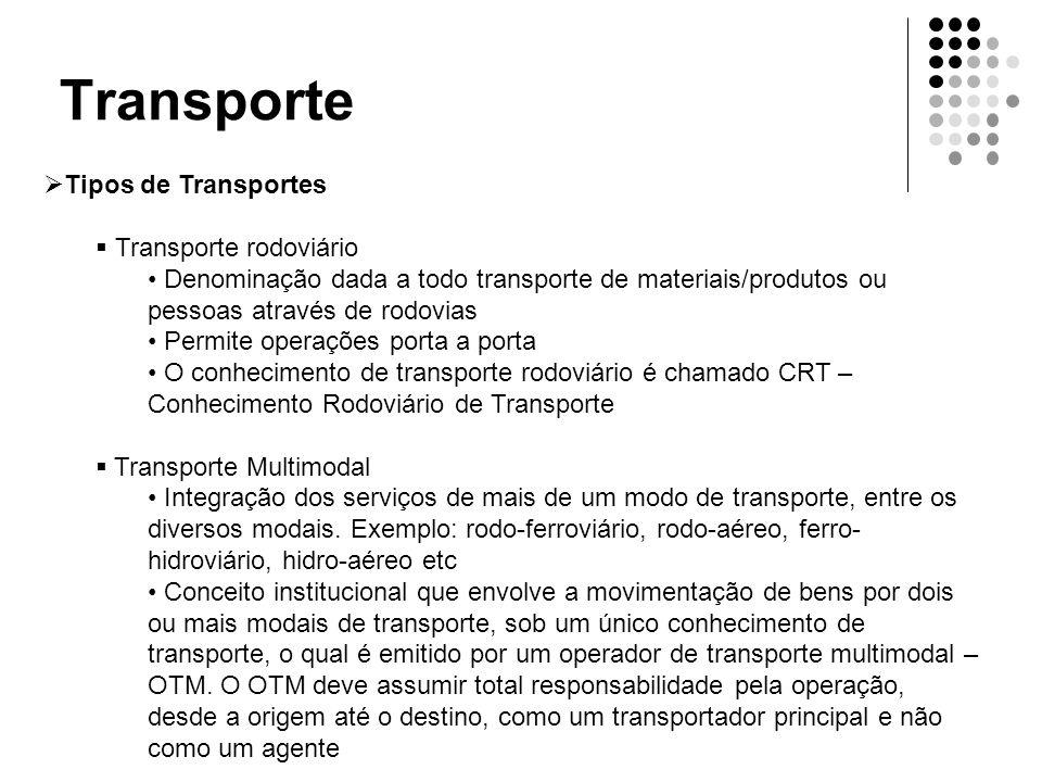 Transporte Tipos de Transportes Transporte rodoviário