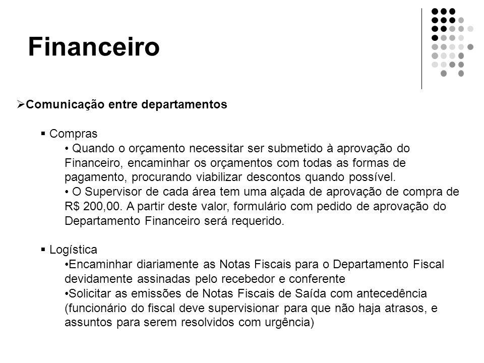 Financeiro Comunicação entre departamentos Compras