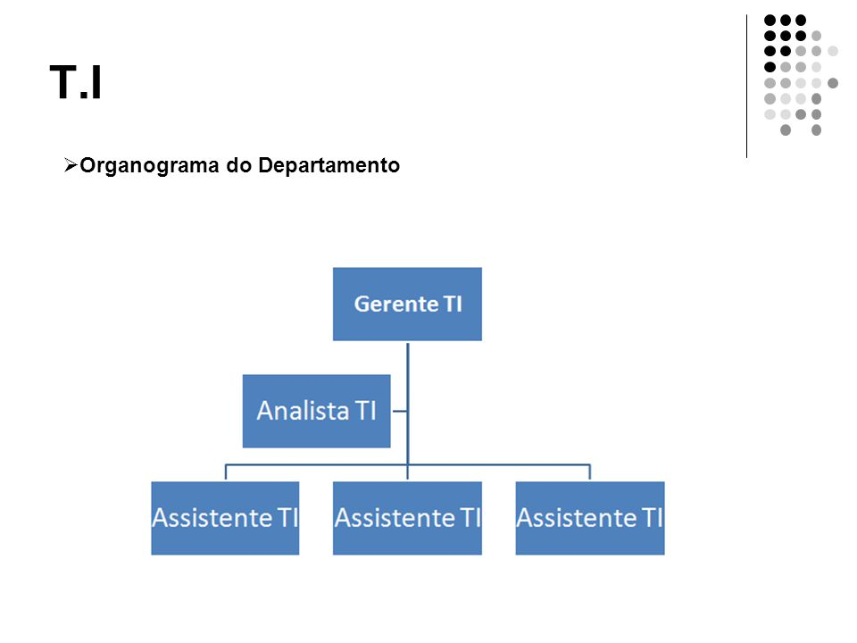 T.I Organograma do Departamento