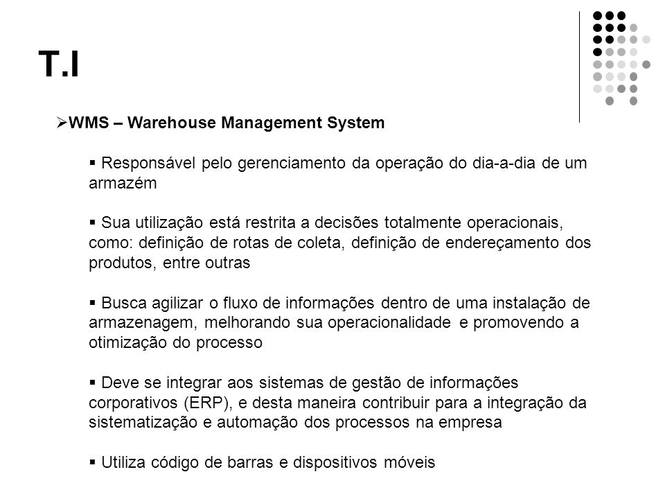 T.I WMS – Warehouse Management System