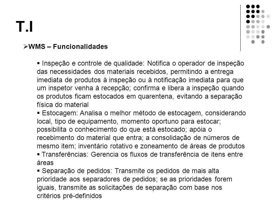 T.I WMS – Funcionalidades