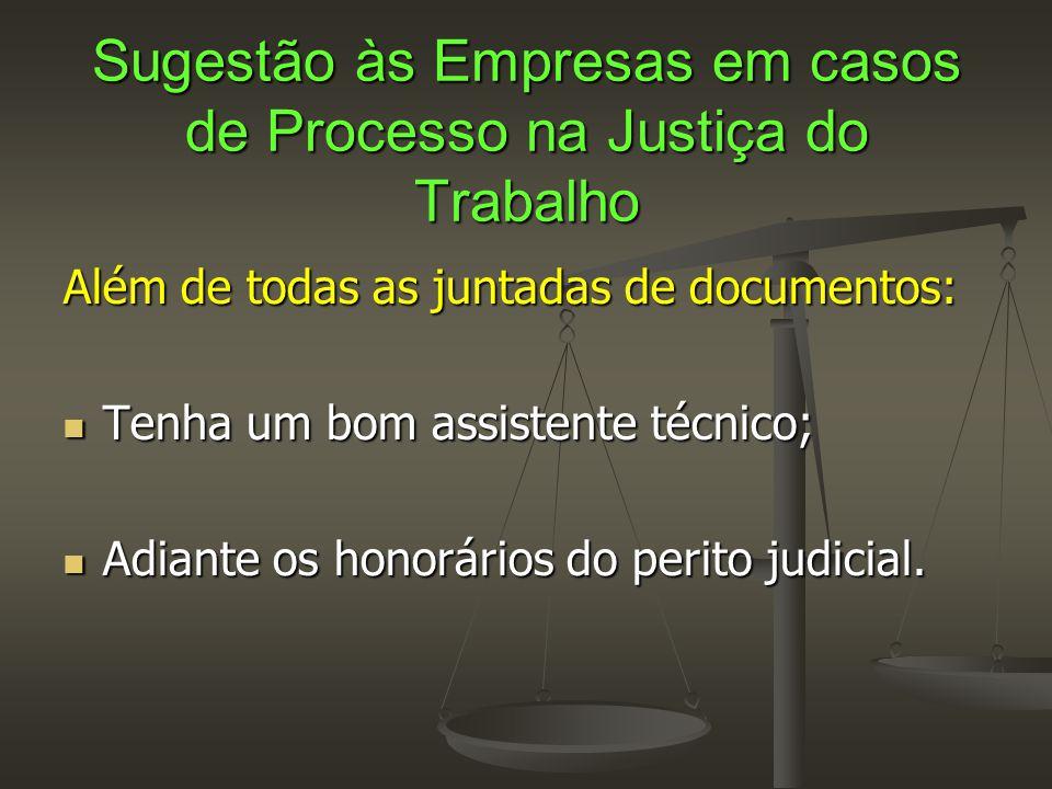Sugestão às Empresas em casos de Processo na Justiça do Trabalho