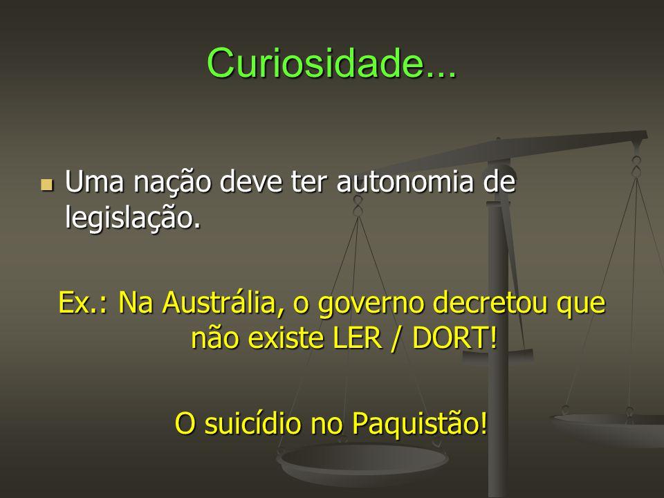 Curiosidade... Uma nação deve ter autonomia de legislação.