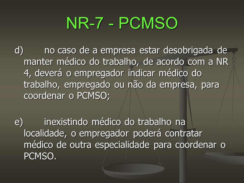 NR-7 - PCMSO