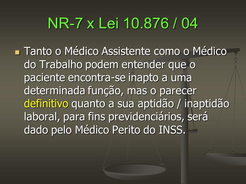 NR-7 x Lei 10.876 / 04