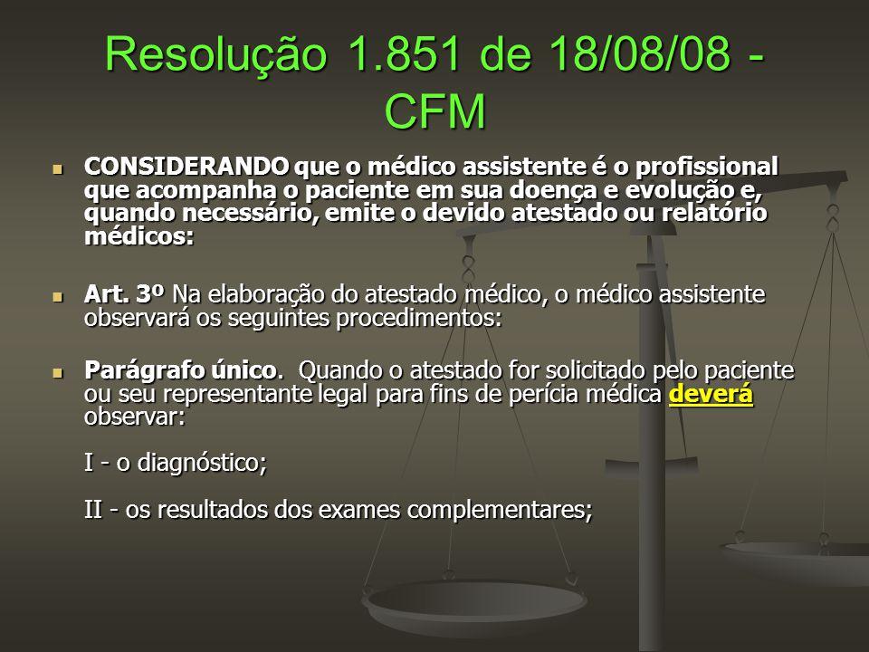 Resolução 1.851 de 18/08/08 - CFM