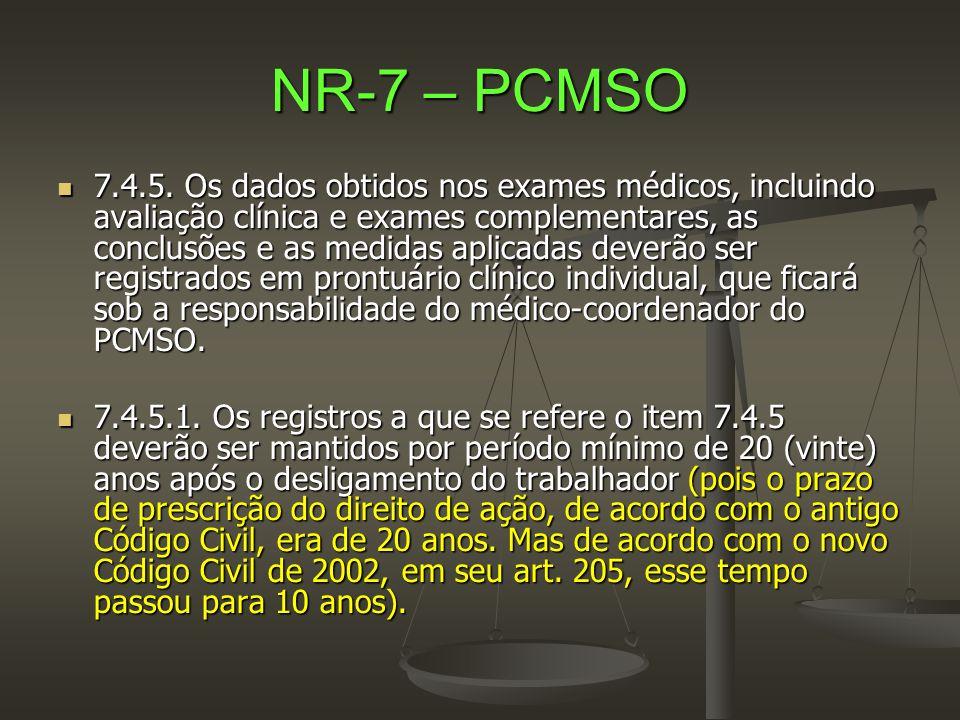 NR-7 – PCMSO