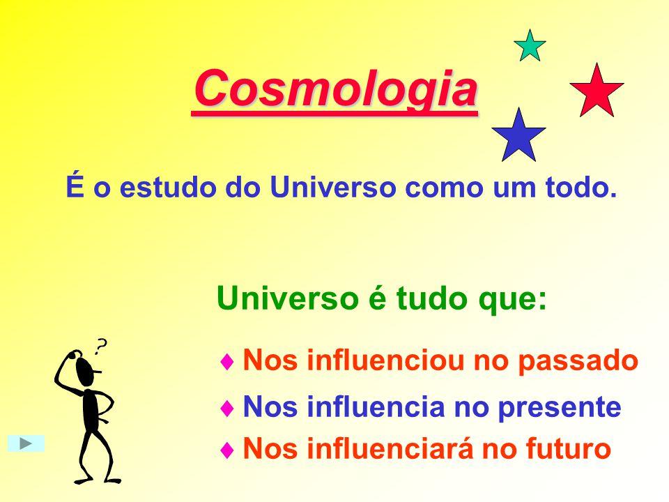 É o estudo do Universo como um todo.