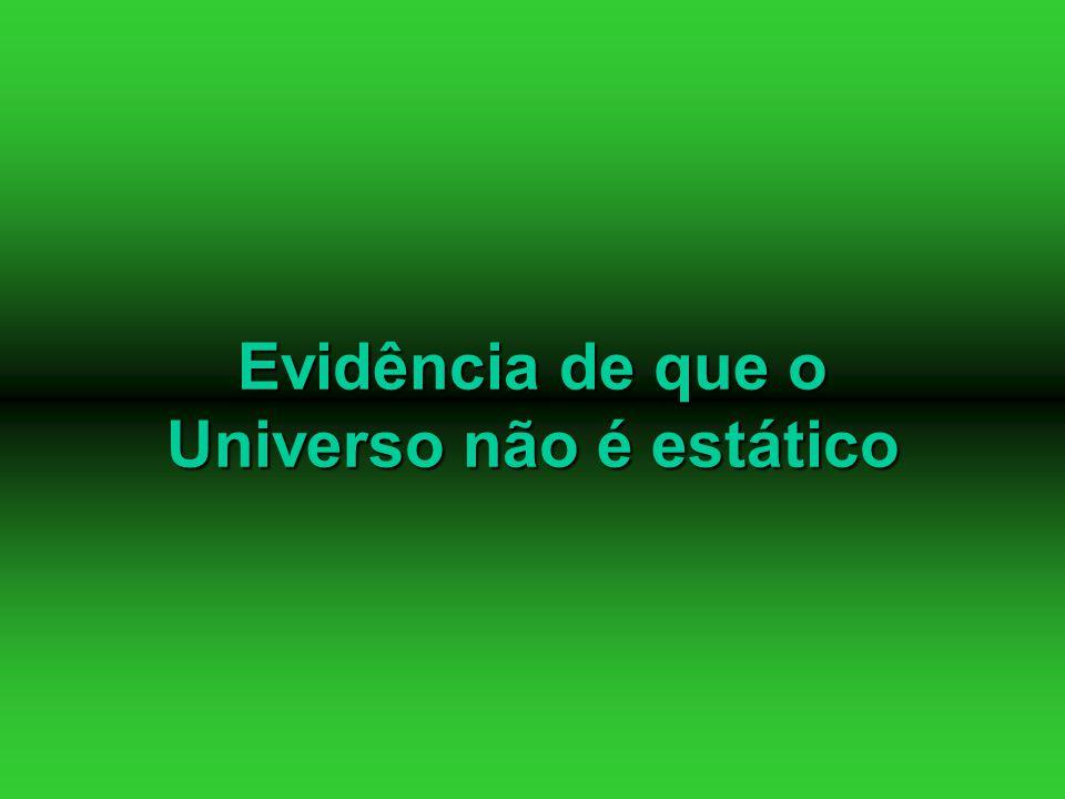 Evidência de que o Universo não é estático