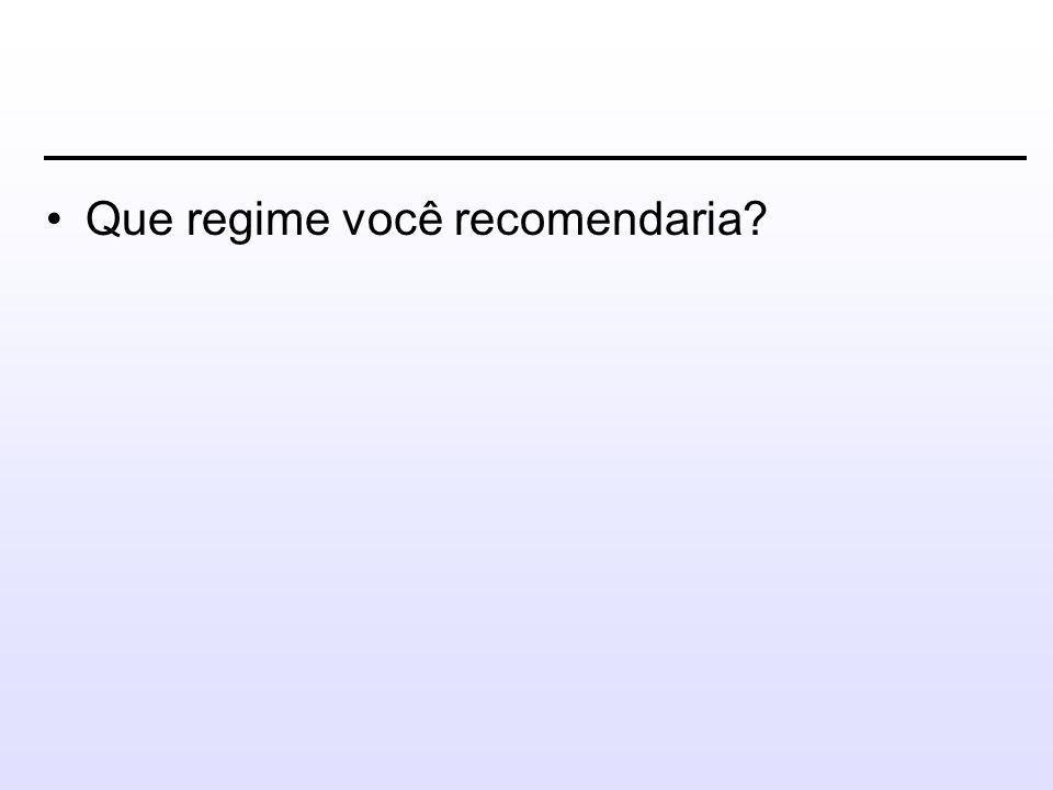Que regime você recomendaria