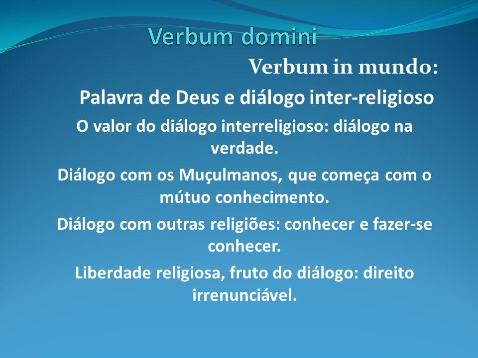 Verbum domini Verbum in mundo: