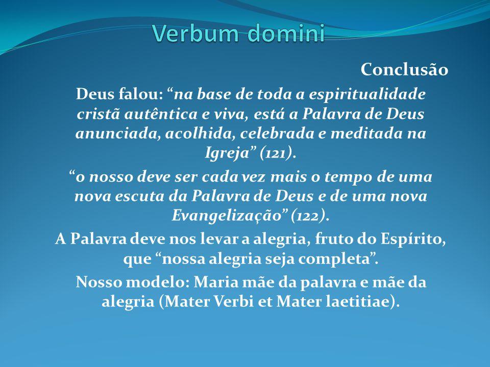 Verbum domini Conclusão