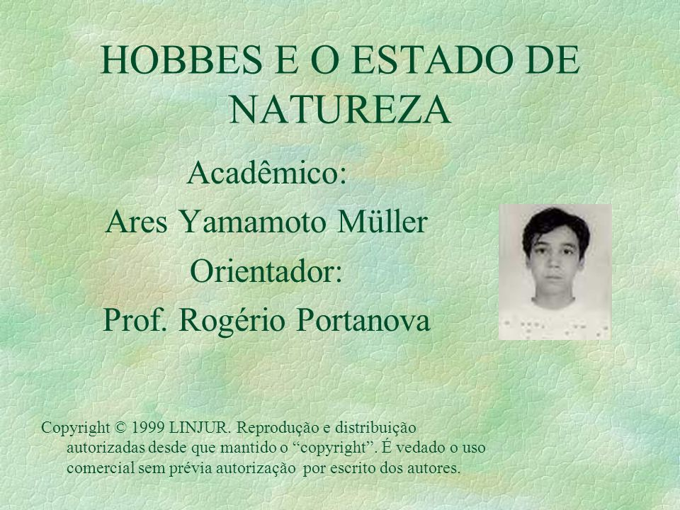 HOBBES E O ESTADO DE NATUREZA